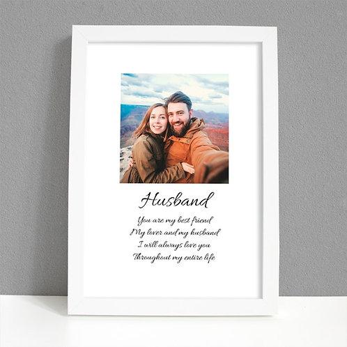 Husband - Framed Artwork - Photo
