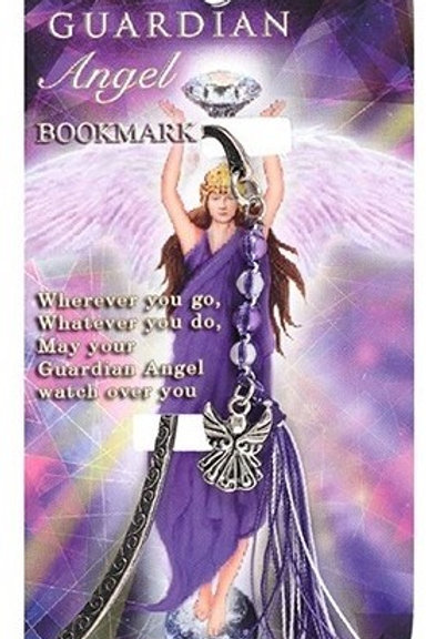 Guardian Angel - Metal Bookmark - Purple