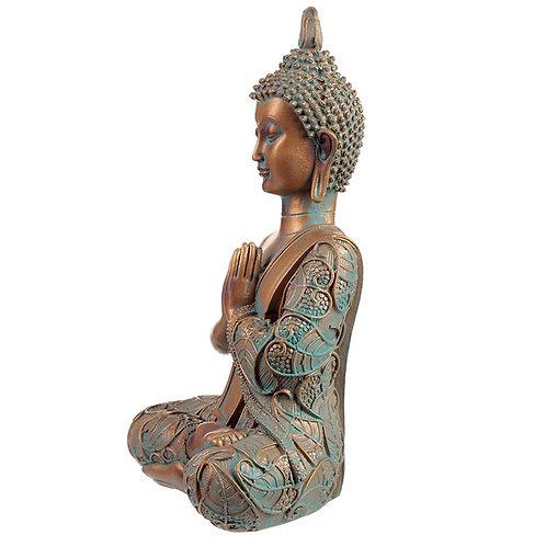 Teal / Bronze Buddha - Praying