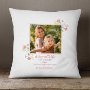 A Special Wife - Velvet Cushion -  Photo & Text