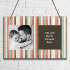 Stripes - Metal Hanging Sign - Photo & Text