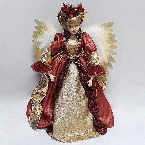 """Moving Christmas Angel - 24"""" (Red)"""