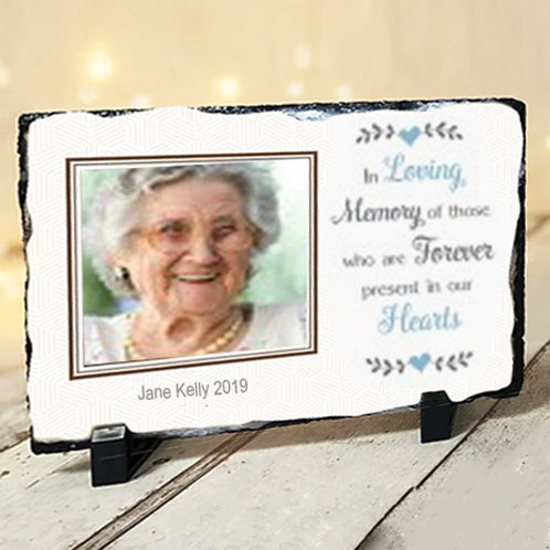 (MEDIUM SLATE) In loving Memory -15cm x 20cm