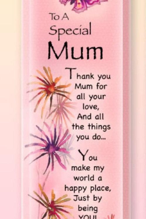 Mum - Treasured Sentiment Plaque