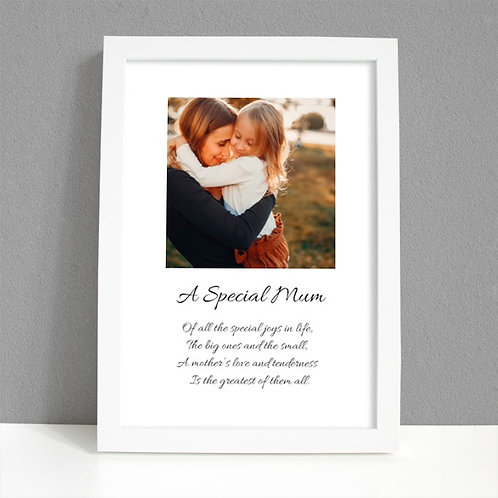 A Special Mum - Framed Artwork - Photo