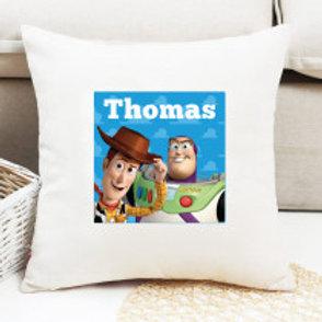 Buzz Lightyear & Woody - Velvet Cushion - Names Only