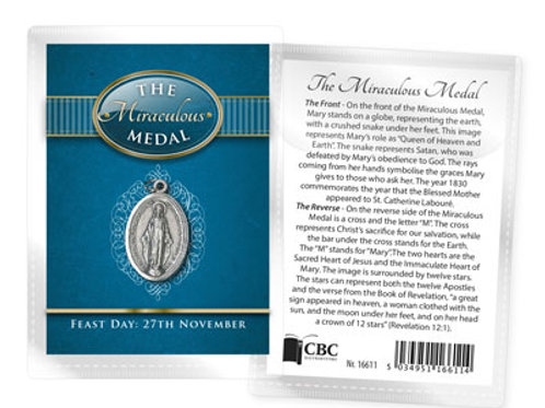 The Miraculous Medal - Medal (Oxidised) & Leaflet