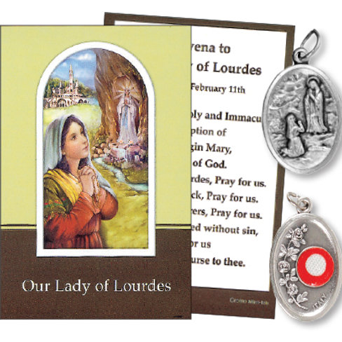 Our Lady Of Lourdes - Relic Medal & Prayer