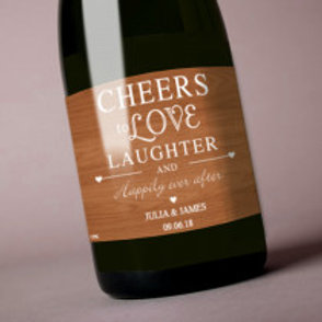 Cheers to Love, Laughter - Bottle / Candle Label - Name