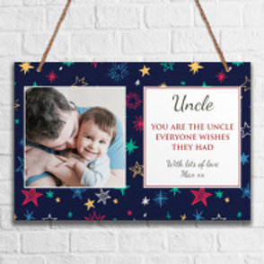 Uncle - Metal Hanging Sign - Photo & Text