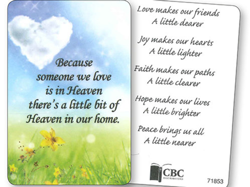 Because Someone We Love - Keepsake Card