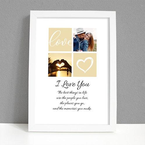 I Love You - Framed Artwork - Two Photos
