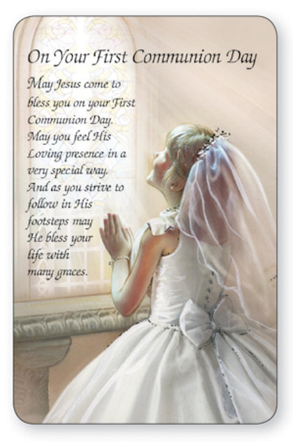 First Holy Communion Pocket Card - Girl