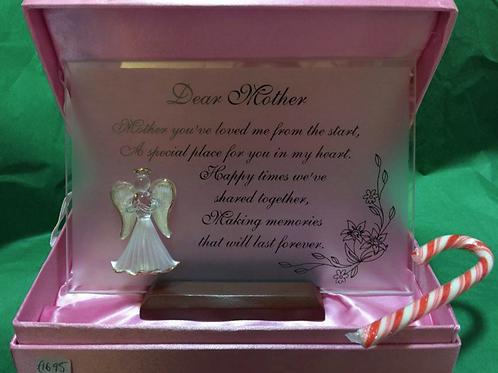 Dear Mother - Angel Plaque