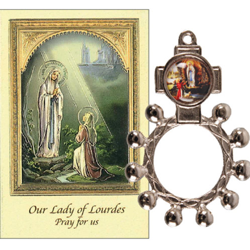 Our Lady of Lourdes - Rosary Ring & Booklet