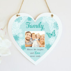 Family Hanging Heart  - Photo