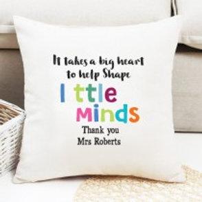 Little Minds - Velvet Cushion - Name only