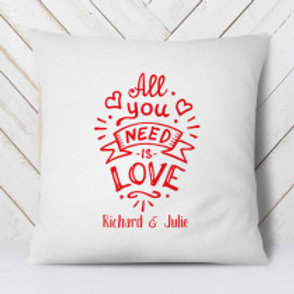 All you need is Love - Velvet Cushion - Names Only