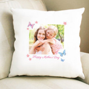 Butterfly Mother's Day - Velvet Cushion -  Photo & Text