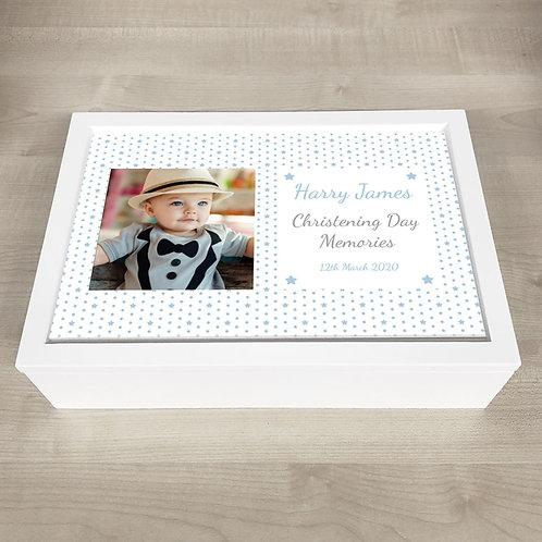 Christening Memory Box - Boy