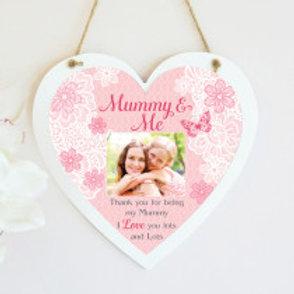 Mummy & Me Hanging Heart  - Photo