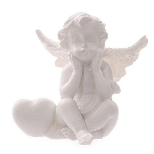Heart Cherub Figurine - Thinking