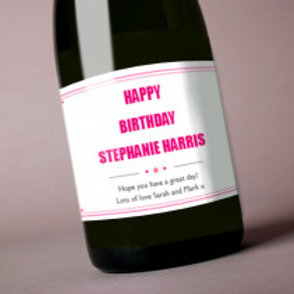 Birthday - Bottle / Candle Label - Names