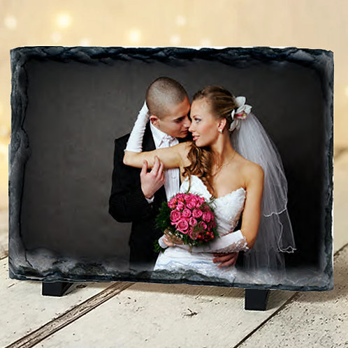Medium Wedding Slate with Photo