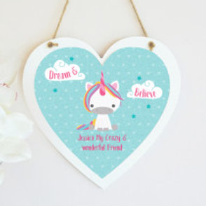 Unicorn - Hanging Heart  - Text Only