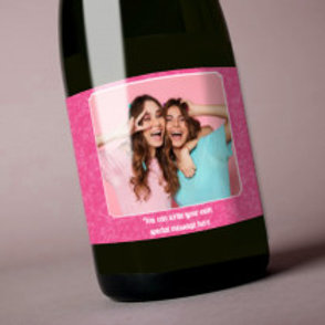 Pink - Bottle / Candle Label - Photo & Text