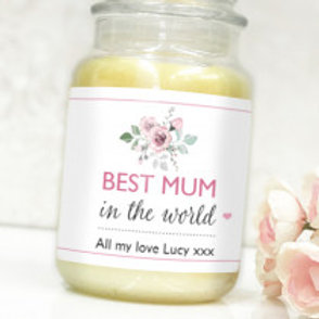 Best Mum - Bottle / Candle Label - Name