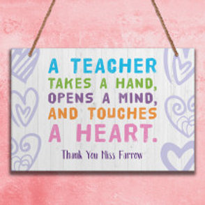 A Teacher - Metal Hanging Sign - Name Only