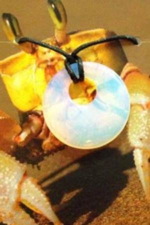 Opalite Agogo Pendant - Cancer Zodiac Sign