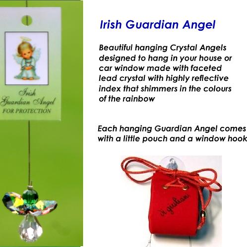 HANGING CRYSTAL IRISH  GUARDIAN ANGEL.