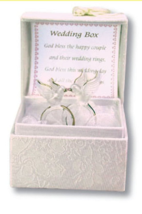 Wedding Box (Dove on Rings) - Blessings Box