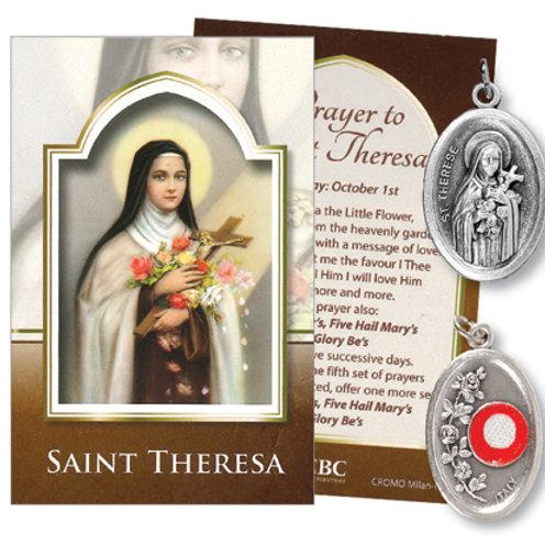 Saint Theresa - Relic Medal & Prayer