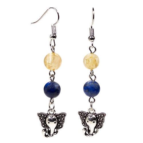 Ganesh Crystal Earrings