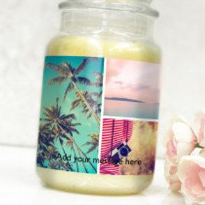 Bottle / Candle Label - 3 Photos & Text