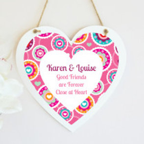 Pink - Hanging Heart  - Text Only
