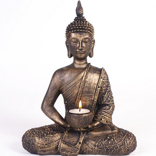 Resin thai buddha tea light candle holder
