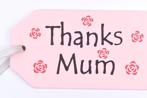 Thanks Mum wooden gift tag