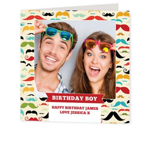 Luxury Card - Moustache Pattern
