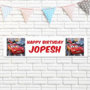Cars Banner - Name