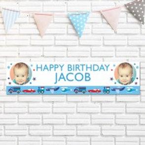 Birthday (Boy) Banner - Text & Photo
