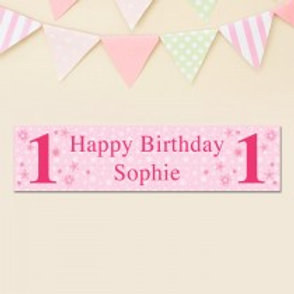 Birthday (Girl) Banner - Text