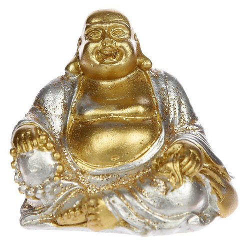 Mini Lucky Buddha (Silver) - Collectable
