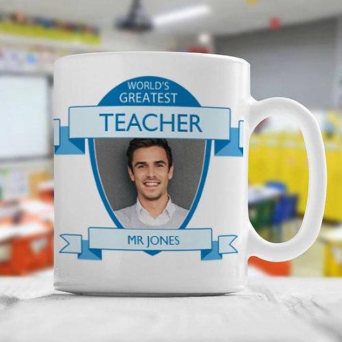 World's Greatest Teacher (Blue) - Ceramic Mug