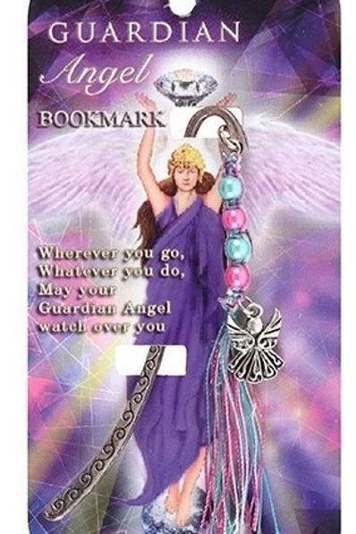Guardian Angel - Metal Bookmark - Blue & Pink