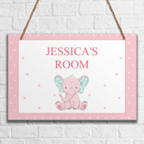 Baby Girls Room - Metal Hanging Sign - Name