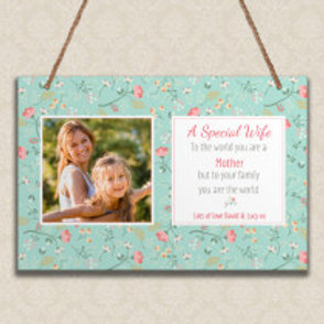 A Special Wife - Metal Hanging Sign - Photo & Text